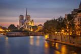 Cathedral Notre Dame Along River Seine, Paris, France Photographic Print by Brian Jannsen