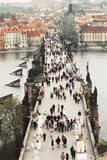 Prague, Czech Republic, View of Bridge and River Photographic Print by Ali Kabas