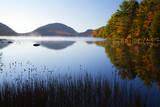 USA, Maine, Morning Fog at Eagle Lake Photographic Print by Joanne Wells