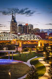 Twilight over Cumberland Park and Downtown Nashville, Tennessee, USA Photographic Print by Brian Jannsen