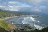 The Oregon Coast and Cannon Beach from Ecola State Park, Oregon Photographic Print by Greg Probst