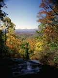 View into Valley from Amicalola Falls Photographic Print by James Randklev