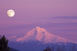 Mount Hood and Full Moon Photographic Print by Craig Tuttle