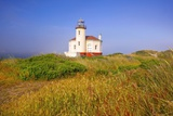 Morning Light Adds Beauty to Fog and Coquille River Lighthouse, Bandon, Oregon Coast Photographic Print by Craig Tuttle