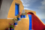 Colorful Building in Oia on Santorini in the Greek Isles Photographic Print by Darrell Gulin
