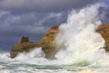 Big Waves Breaking on Cape Kiwanda, Oregon Coast Photographic Print by Craig Tuttle