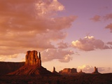 Mitten Buttes at Sunset in Monument Valley Navajo Tribal Park Photographic Print by James Randklev