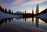 Sunset at Tipsoo Lakes and Mount Rainier Photographic Print by Craig Tuttle