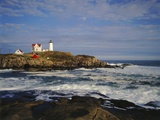 Heavy Surf Near Cape Neddick Lighthouse Photographic Print by James Randklev