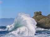 Wave Crashing on Rocky Coast Photographic Print by Craig Tuttle