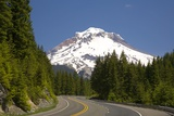 Highway Leading Towards Mount Hood Photographic Print by Craig Tuttle