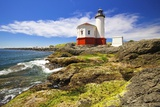 Craig Tuttle - Afternoon Light on Coquille River Lighthouse, Bandon, Oregon Coast, Pacific Ocean Fotografická reprodukce