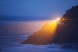 Heceta Head Lighthouse Shining in Morning Fog Photographic Print by Craig Tuttle