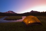 Tent Beside a Stream at Sunrise Photographic Print by Craig Tuttle