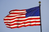 American Flag on Flagpole Photographic Print by Craig Tuttle