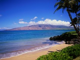 Kihei Beach and West Maui Mountains Photographic Print by James Randklev