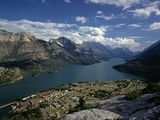 Waterton Park Village on Shore of Waterton Lakes Photographic Print by James Randklev