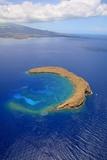 Molokini Crater Off the Coast of Maui Reproduction photographique par Ron Dahlquist