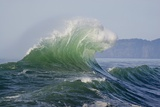 Wave Curl in Winter Storm Photographic Print by Craig Tuttle