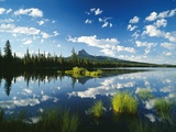 Clouds in Sky Reflected by Mountain Lake Photographic Print by Craig Tuttle