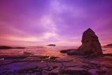 Sunset Otter Rock, Oregon Coast, Pacific Northwest. Pacific Ocean Photographic Print by Craig Tuttle