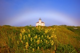 Morning Light and Fog Make a Fogbow over Coquille River Lighthouse, Bandon, Oregon Coast Photographic Print by Craig Tuttle