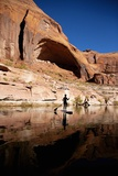 Stand-Up Paddleboarding on Lake Powell, Utah Photographic Print by Ron Dahlquist