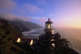 Sunset at Heceta Head Lighthouse in Oregon Photographic Print by Craig Tuttle