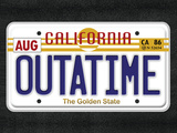 OUTATIME License Plate Movie Poster Print