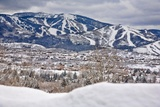 Steamboat Springs Ski Area and Town Photographic Print by Ron Dahlquist