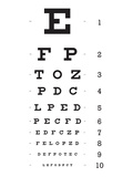 Eye Chart 10-Line Reference Poster Posters