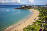 Sheraton Maui Resort and Spa, Kaanapali Beach, Famous Black Rock known for it's Snorkeling Photographic Print by Ron Dahlquist