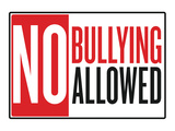 No Bullying Allowed Classroom Poster Stretched Canvas Print
