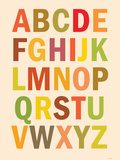 Alphabet (List) Art Poster Print Plakater