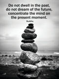 Buddha, citat om fokus, motiverande affisch Affischer