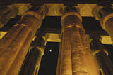 Egypt, Luxor Egypt, Column of Amenophis Iii at Luxor Temple Photographic Print by Claudia Adams