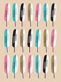 Feather Pattern Posters