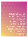 Hashtag City New Orleans Prints