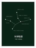 Astrology Chart Virgo Poster