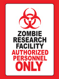 Zombie Research Facility Art Poster Print Stretched Canvas Print