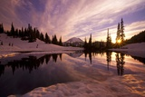 Sunrise at Tipsoo Lakes and Mount Rainier Photographic Print by Craig Tuttle