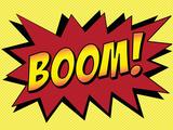 Boom! Comic Pop-Art Art Print Poster Posters