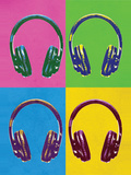 Headphones Pop Art Poster Print