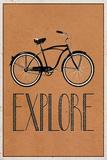 Explore Retro Bicycle Player Art Poster Print Plakaty