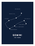 Astrology Chart Gemini Poster
