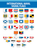 Naval Signal Nautical Flags Transportation Print Poster Posters