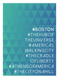 Hashtag City Boston Poster