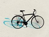 Beach Bike Pop Art Póster