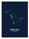 Astrology Chart Cancer Poster