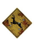 Deer Crossing Hunting Sign Posters